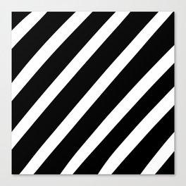 Black'n'White Stripes Canvas Print