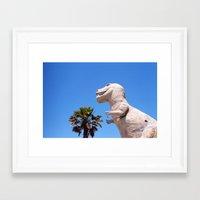 dinosaur Framed Art Prints featuring Dinosaur!!! by David Ray