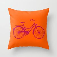 bicycle Throw Pillows featuring Bicycle by Mr and Mrs Quirynen