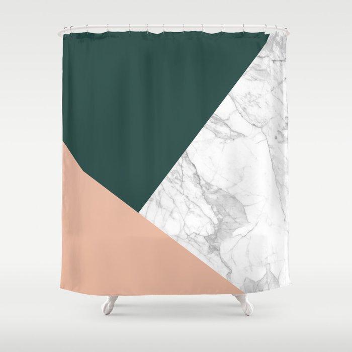 Stylish Marble Shower Curtain