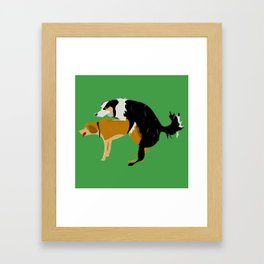 DOGS MATE SEX MAKE LOVE Framed Art Print