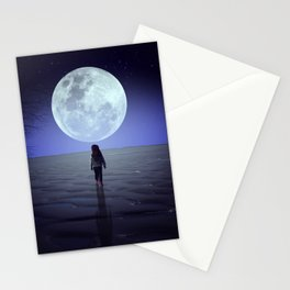 Moon alk Stationery Cards