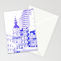 Drawn city. Stationery Cards