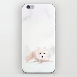 Fox In A Snowstorm iPhone Skin