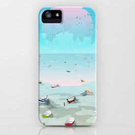 Between two waters iPhone Case