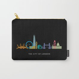 London Skyline Black Carry-All Pouch
