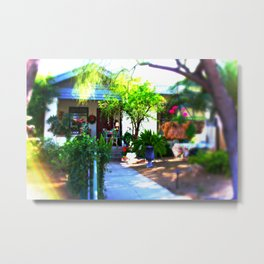 Charming bungalow in the sun Metal Print