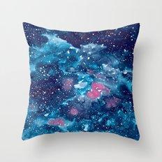 Watercolor Galaxy Throw Pillow