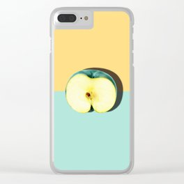 Tropical Fruit. Apple Half Slice Clear iPhone Case