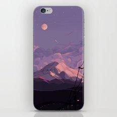 Mt Rainier with Powerlines iPhone Skin