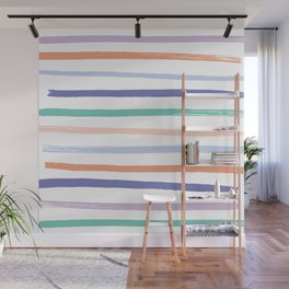 Fruit Stripes - Blueberry Wall Mural