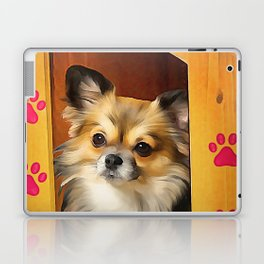 A long haired Chihuahua. (Painting) Laptop & iPad Skin