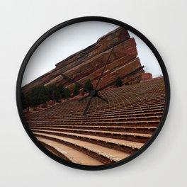 Red Rocks Wall Clock