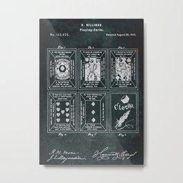 No218  1873  Playingcards  Inventor R. Billings Metal Print