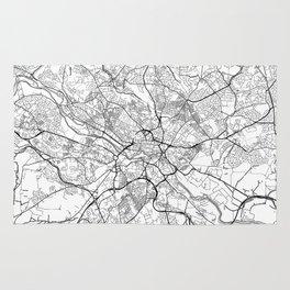 Leeds Map White Rug