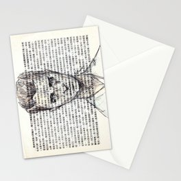 Male Doodle on Asian Text 1 Stationery Cards