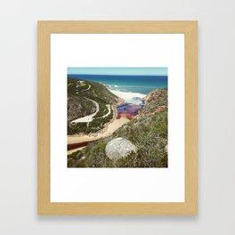 Goukamma river mouth Framed Art Print