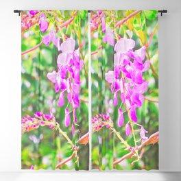 Little Purple Flowers Blackout Curtain