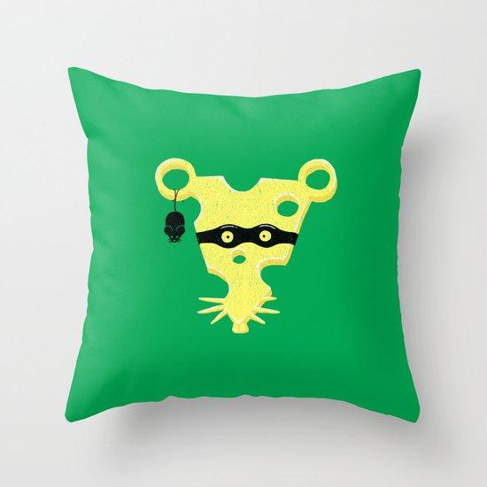 Cheese Burglar Throw Pillow