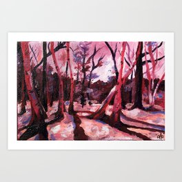 Through the Trees (colorized) Art Print