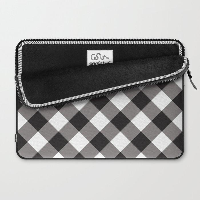 Gingham - Black Laptop Sleeve