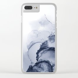 BLUE INK 88 Clear iPhone Case