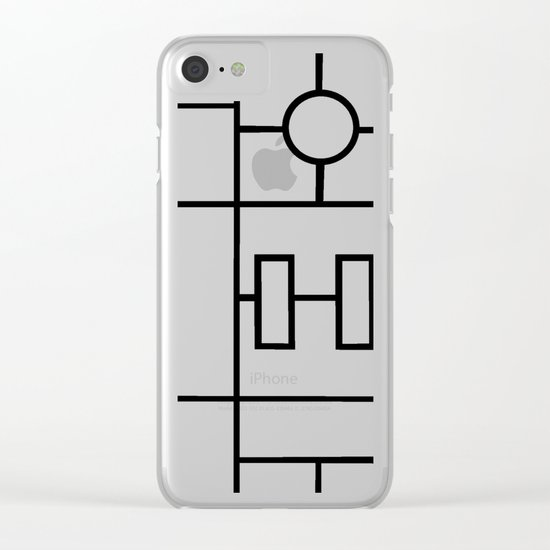 PS Grid Clear iPhone Case
