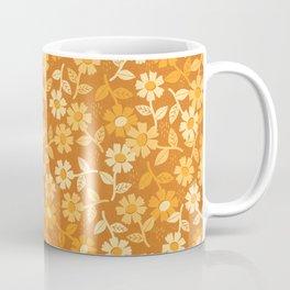 Gold Floral Coffee Mug