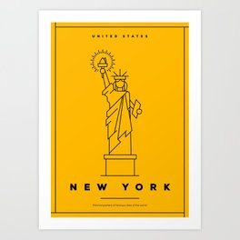 Minimal New York City Poster Art Print