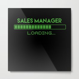 Sales Manager Loading Metal Print