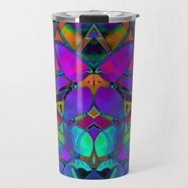 Floral Fractal Art G308 Travel Mug