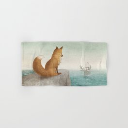 The Day the Antlered Ship Arrived Hand & Bath Towel