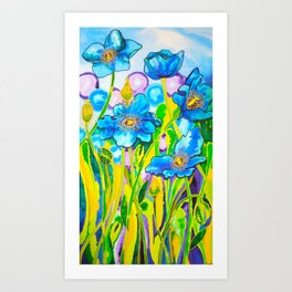 Blue Poppies 2 Art Print