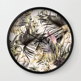 Tiger of the jungle Wall Clock