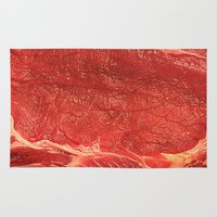 meat Area & Throw Rugs featuring Meat by Niko Herrera