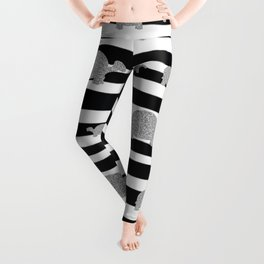 Silver turtle pattern Leggings