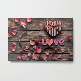 Love is as Sweet as Candy Metal Print