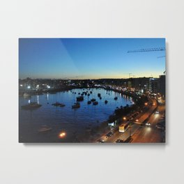 Sliema Harbour at Dusk Metal Print