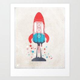 Rocket Sicle Art Print