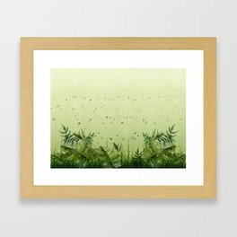 """""""Forest leaves and plants"""" Framed Art Print"""