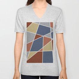 Cool Stained Tiles Unisex V-Neck