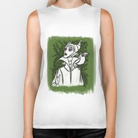 maleficent Biker Tanks featuring Maleficent by carotoki art and love