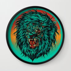 Zombie Lion Wall Clock