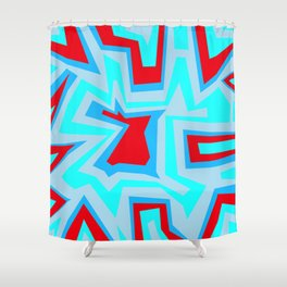 Ice Banded Red - Coral Reef Series Shower Curtain