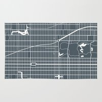 new york map Area & Throw Rugs featuring New York City map by Studio Tesouro