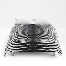 op art - horizontal triangles Comforters