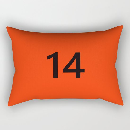 Legendary No. 14 in orange and black Rectangular Pillow