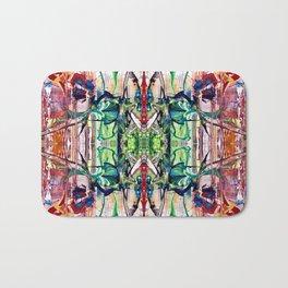 Flowerpower kaleidoscope Bath Mat