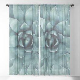 Aloe Green Agave Sheer Curtain