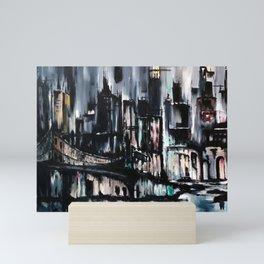City Scape at Dusk Mini Art Print